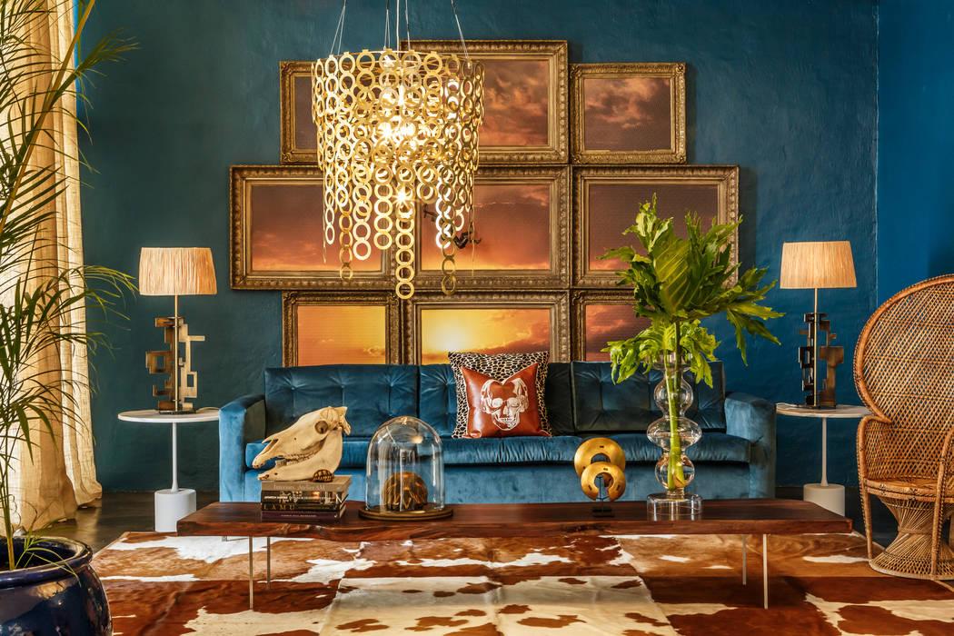 Salas de estar modernas por Egg Designs CC Moderno Cobre/Bronze/Latão
