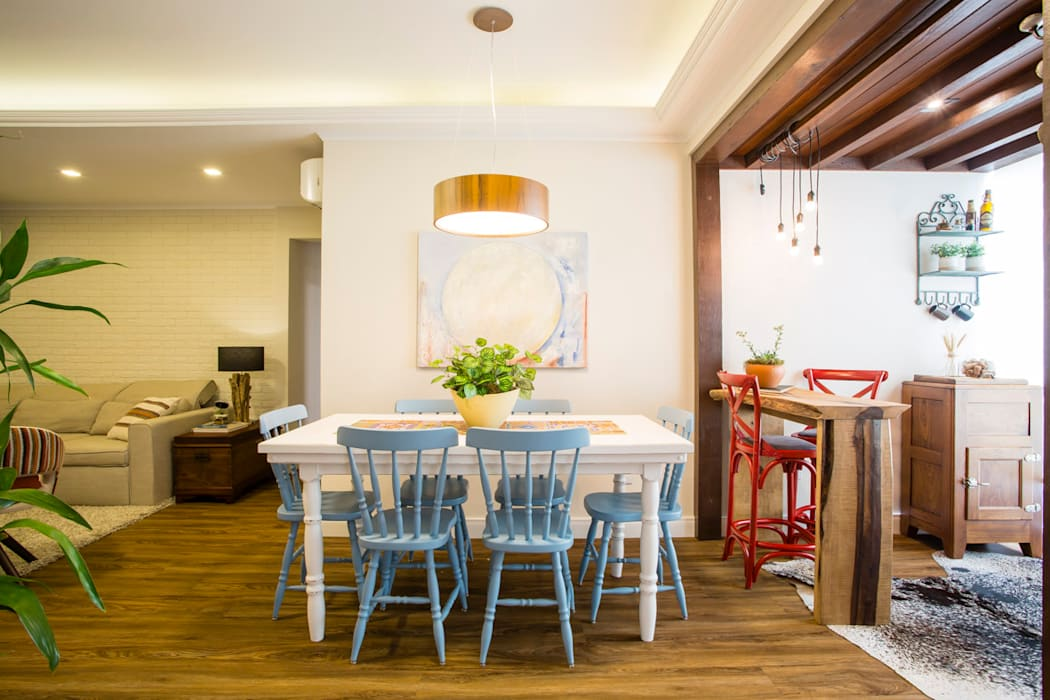 Join Arquitetura e Interiores Rustic style dining room