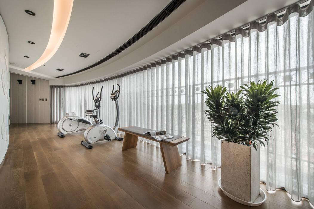健身區:  健身房 by 存果空間設計有限公司, 簡約風