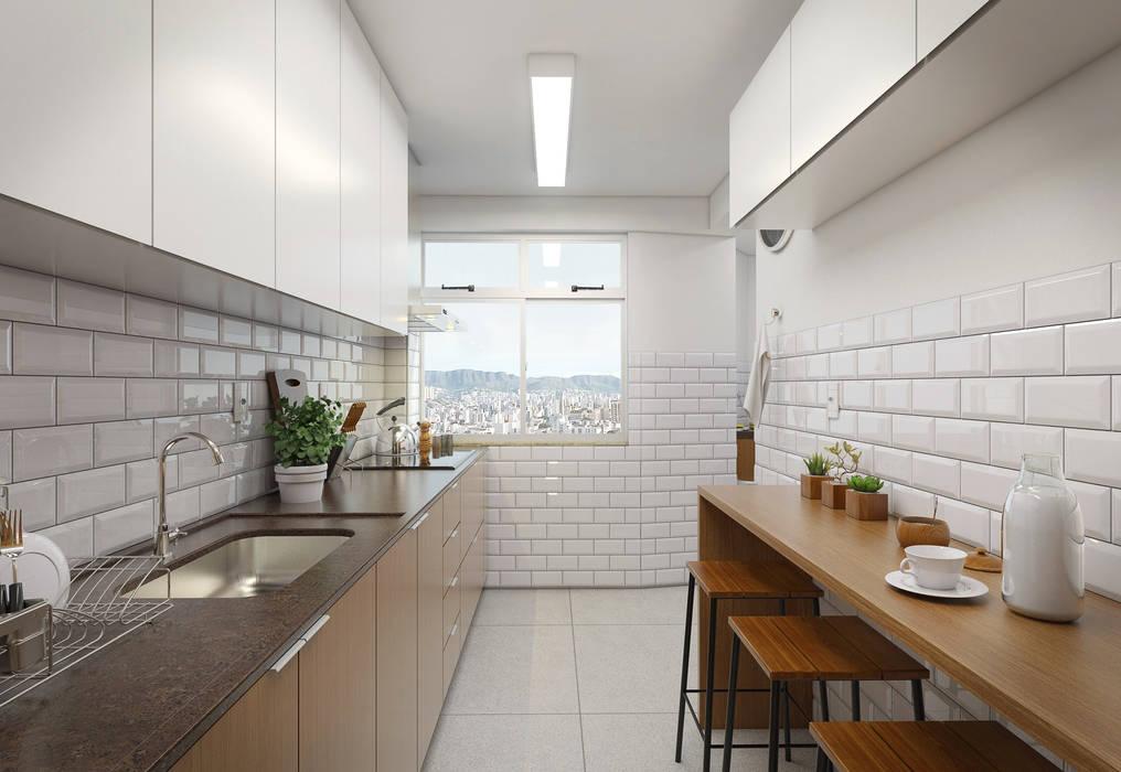 Cozinha: Cozinhas  por Filipe Castro Arquitetura   Design,Moderno Cerâmica