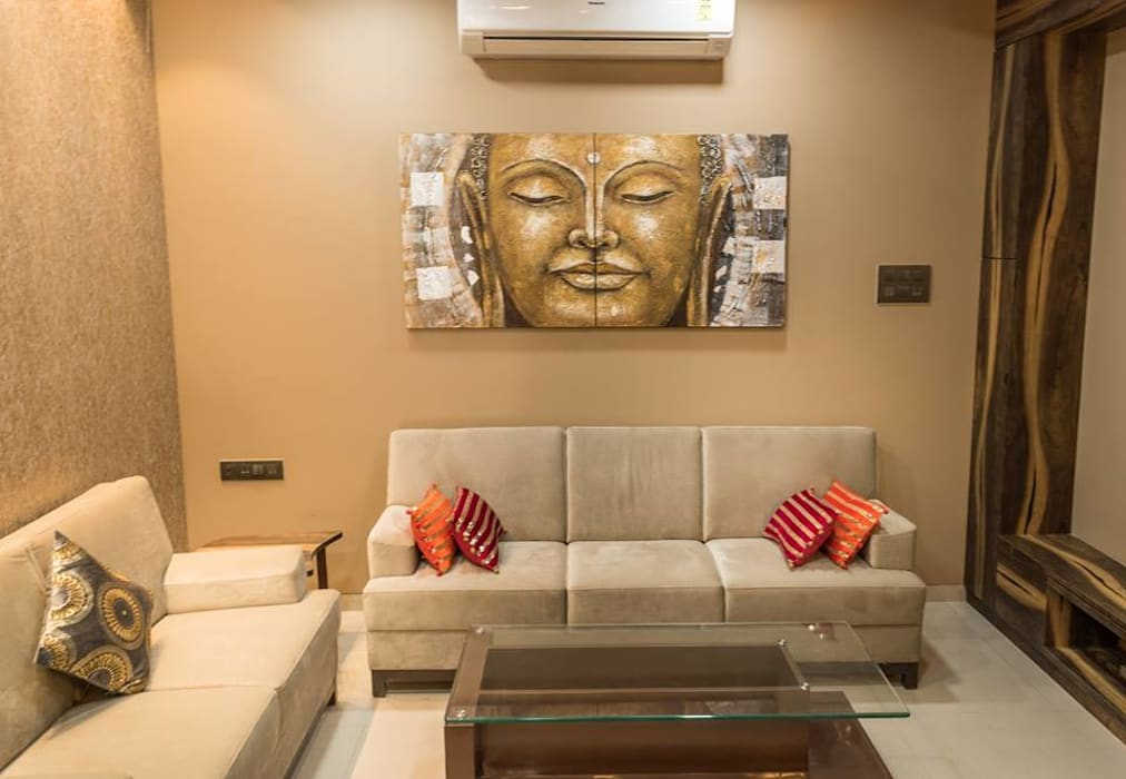 Rishi Villa - Pune Modern living room by Aesthetica Modern