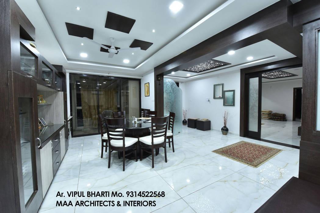M.M Mehta Ji Modern dining room by MAA ARCHITECTS & INTERIOR DESIGNERS Modern