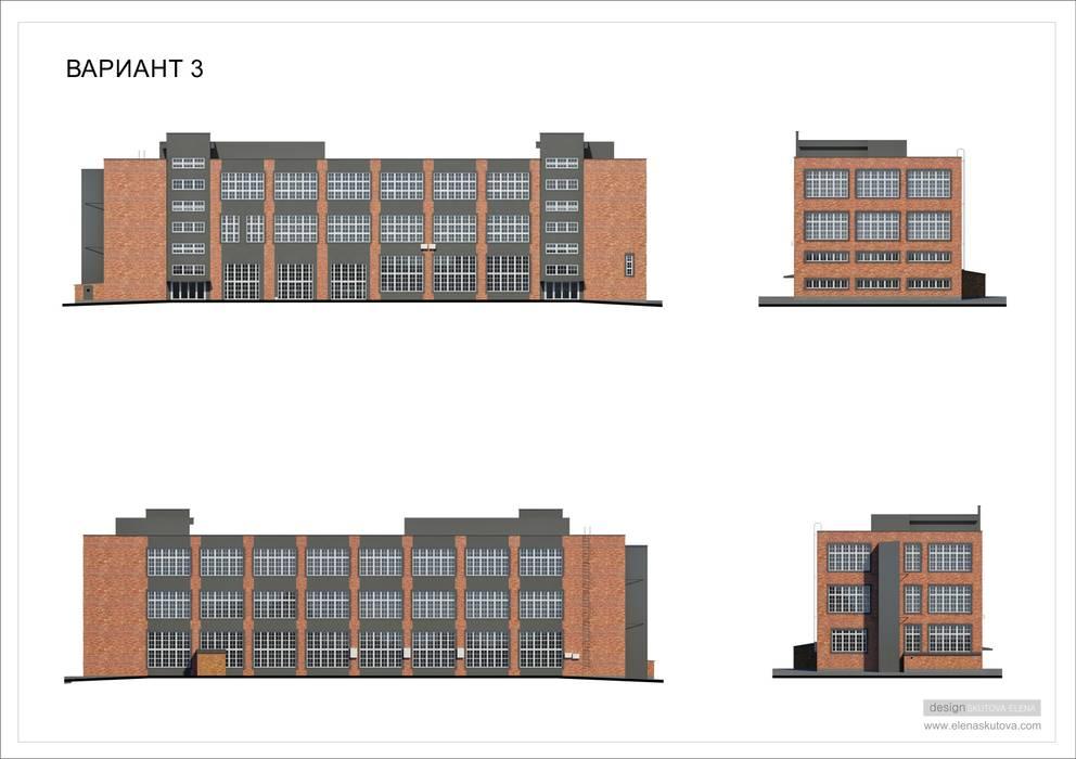 Дизайн фасада здания: Дома в . Автор – ELENA SKUTOVA