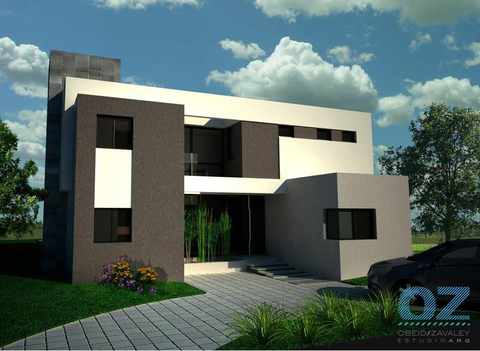 Casa Plaza Casas minimalistas de OZestudioArq Minimalista