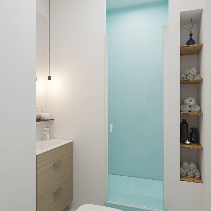 Лазурь: Ванные комнаты в . Автор – ДОМ СОЛНЦА, Минимализм