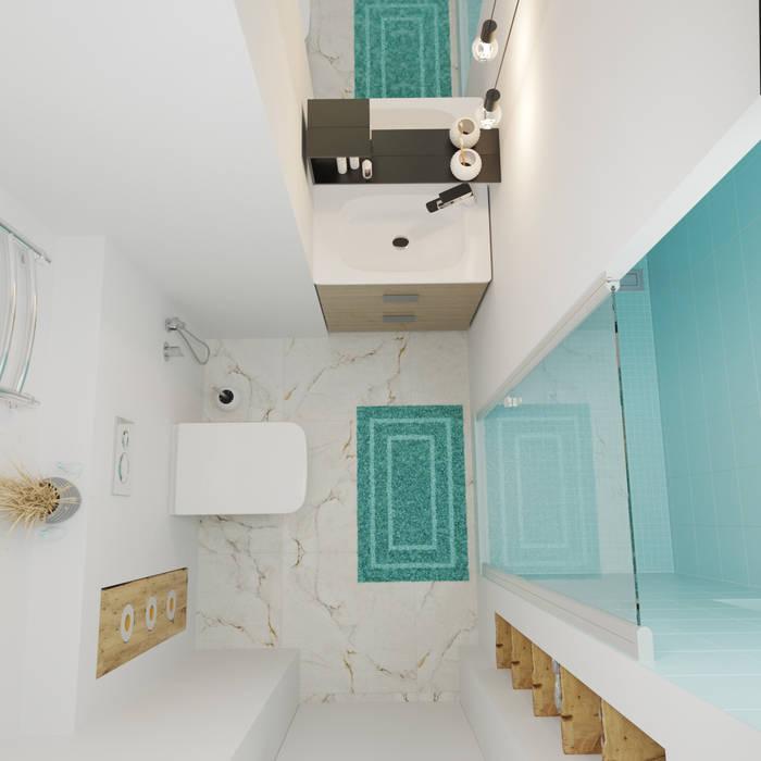 ДОМ СОЛНЦА Baños de estilo minimalista
