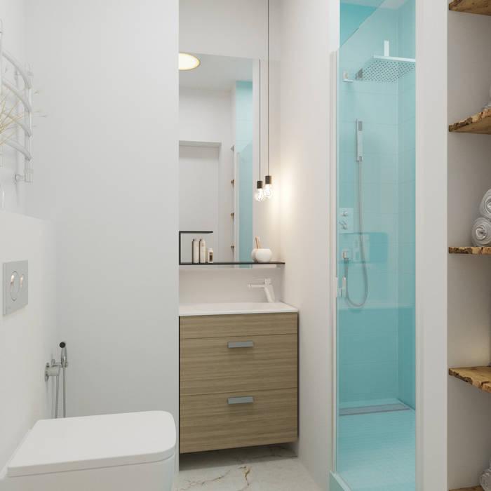 Лазурь: Ванные комнаты в . Автор – ДОМ СОЛНЦА,