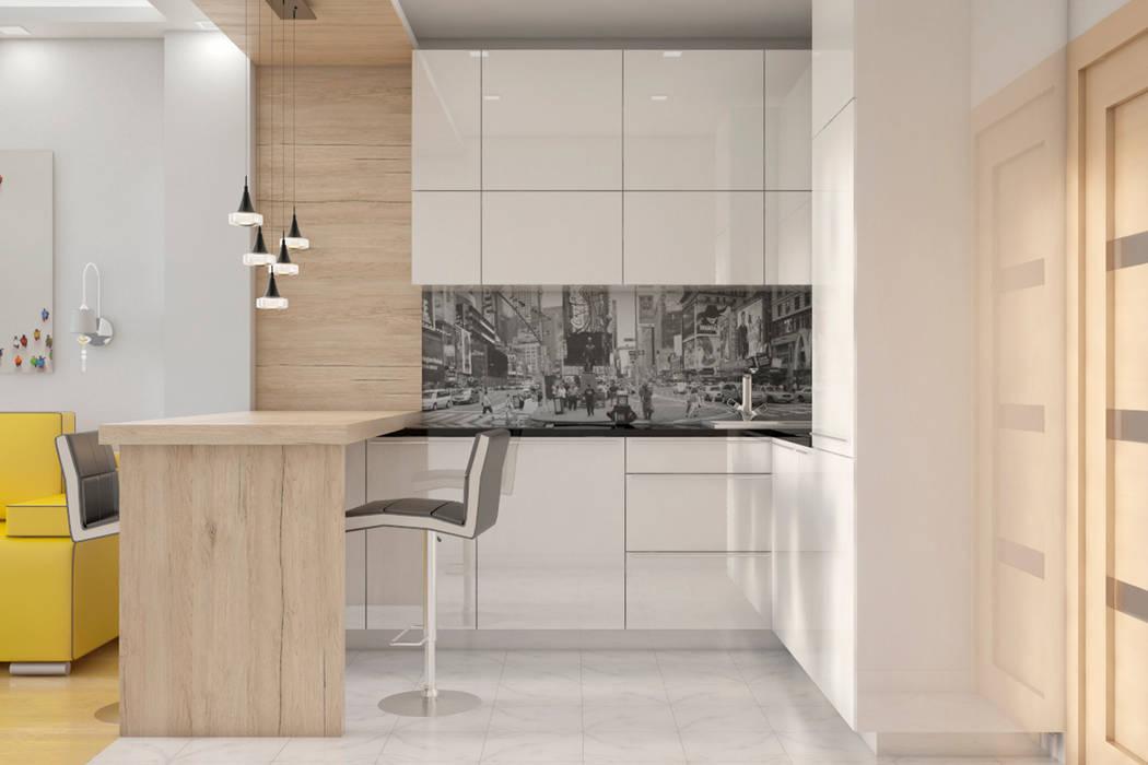 Cocinas de estilo  por AG design, Minimalista Madera Acabado en madera