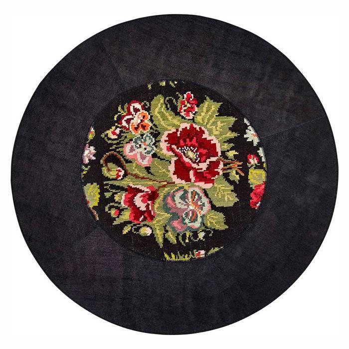 'Floreale' Unique luxury round rug by Sitap by My Italian Living Сучасний Дерево Дерев'яні