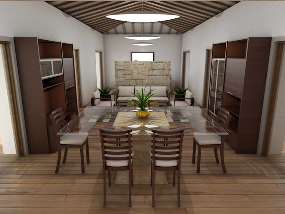 Eclectic style dining room by Grupo Inovarq Eclectic