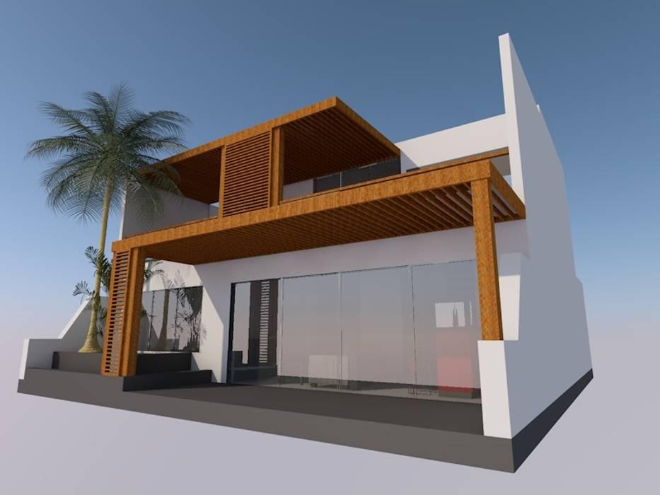 Casa de Playa, San Antonio, Cañete, Lima: Casas de estilo  por MGR
