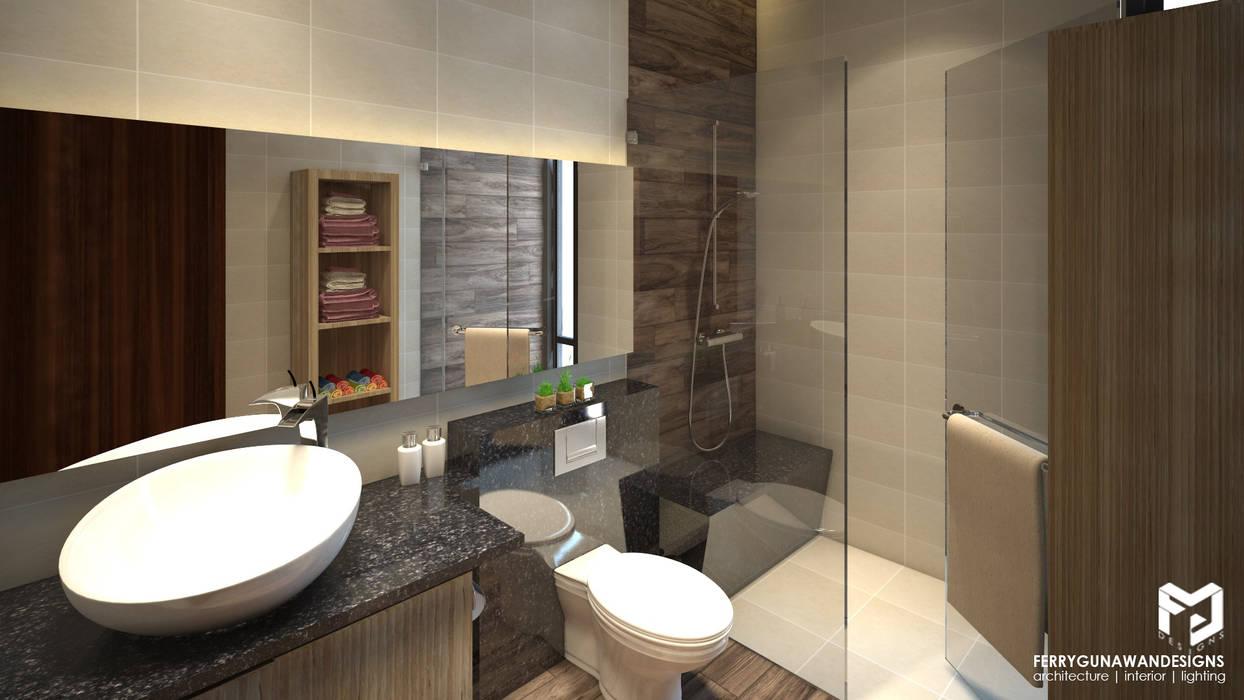 Guest Bathroom: Kamar Mandi oleh FerryGunawanDesigns, Modern