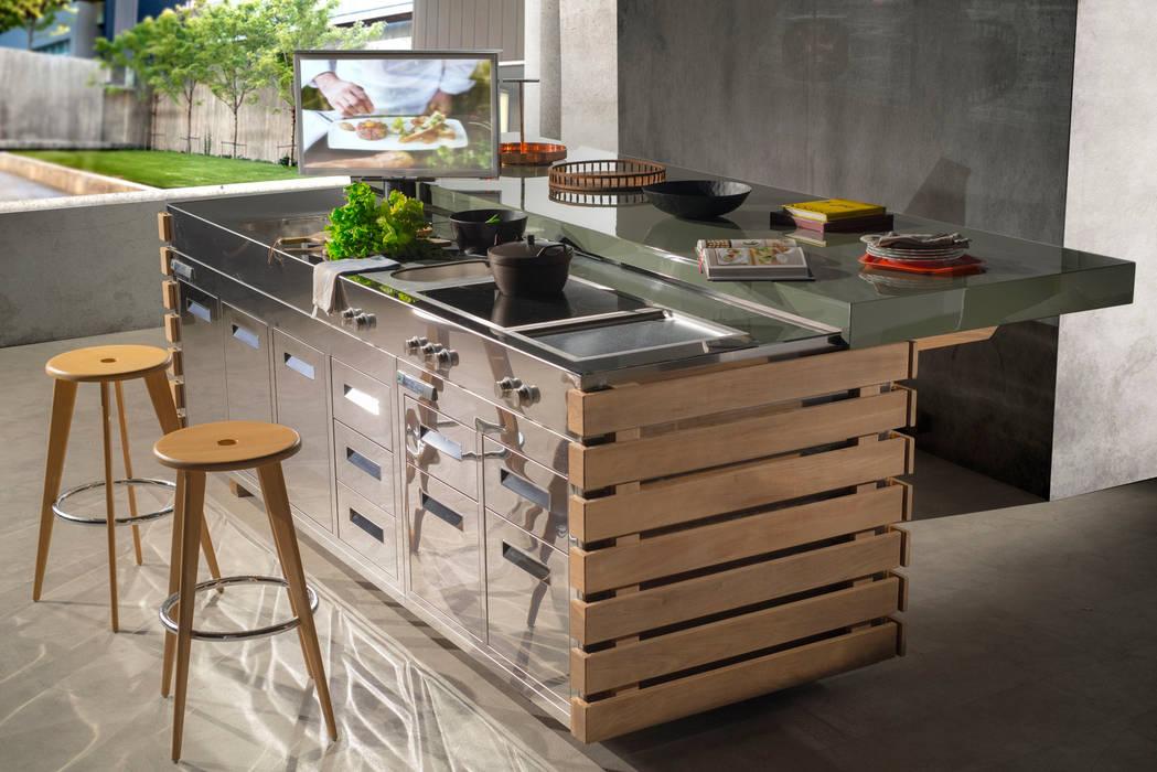 Render cucina da esterno perpetua: in stile di laboratorio ...