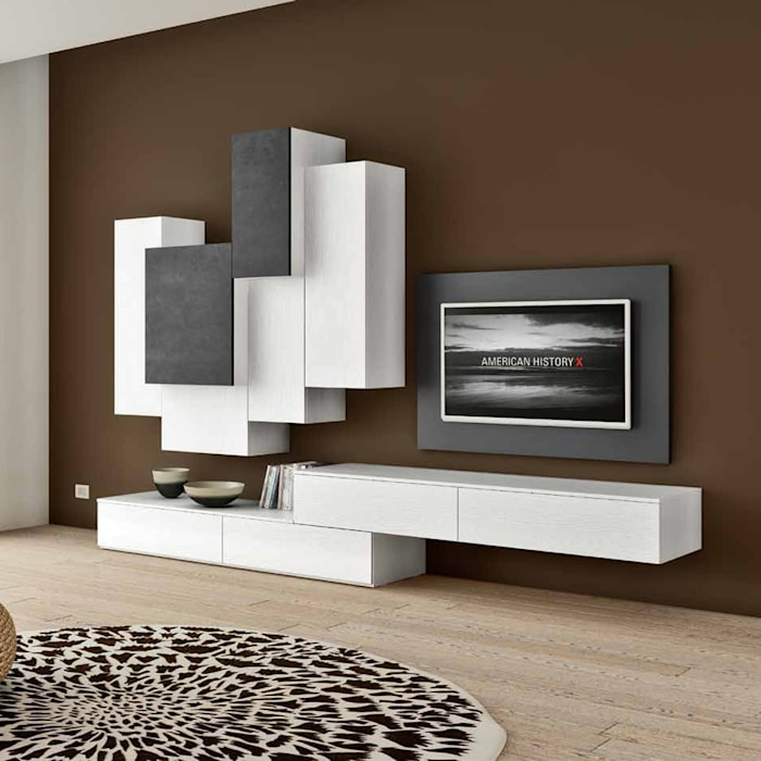 Wall Mounted Tv Media Unit By Favero