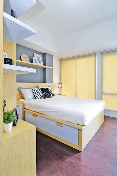 Studio Apartment - Bintaro Plaza Residence: Kamar Tidur oleh RANAH, Skandinavia
