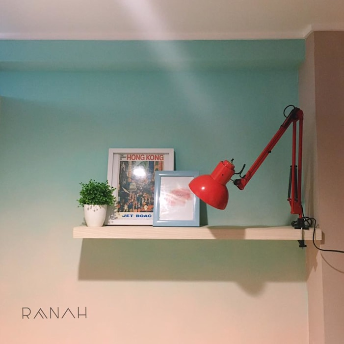 RANAH Modern Study Room and Home Office Turquoise