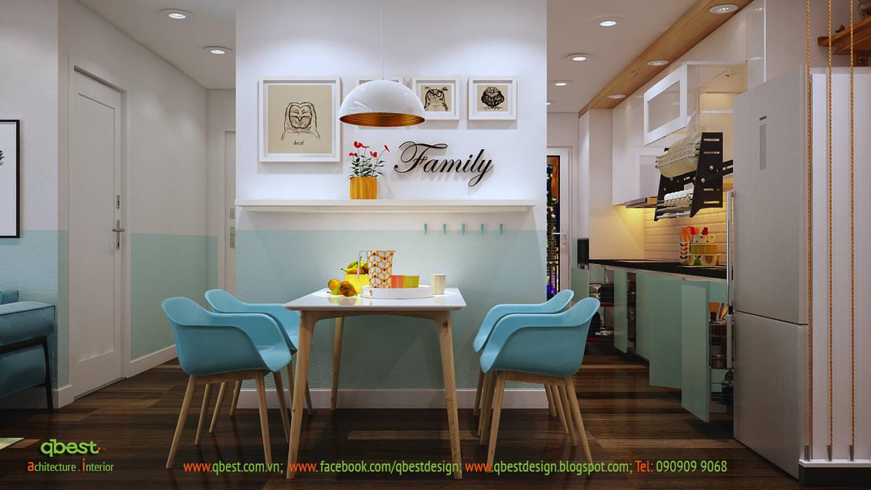 Bàn ăn: hiện đại  by Công ty TNHH Thiết kế và Ứng dụng QBEST, Hiện đại