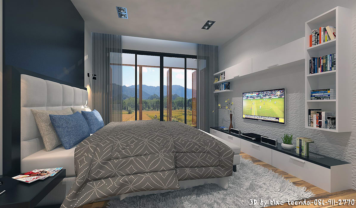 Project-M:  ห้องนอน โดย MaxShop, โมเดิร์น
