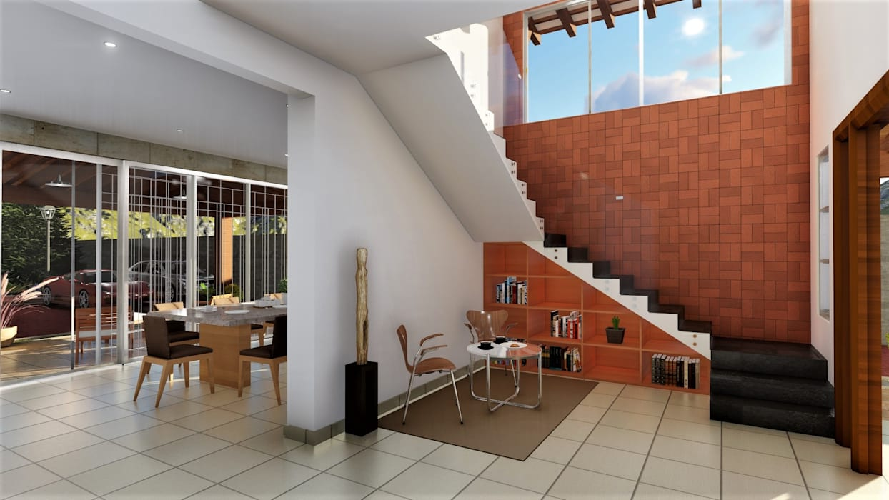 Modern Corridor, Hallway and Staircase by IAD Arqutiectura Modern