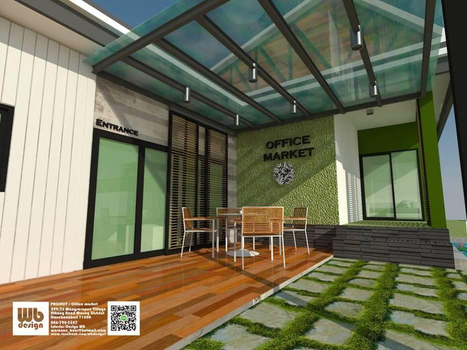 home office:  หน้าต่าง โดย Interior Design WB, โมเดิร์น กระจกและแก้ว