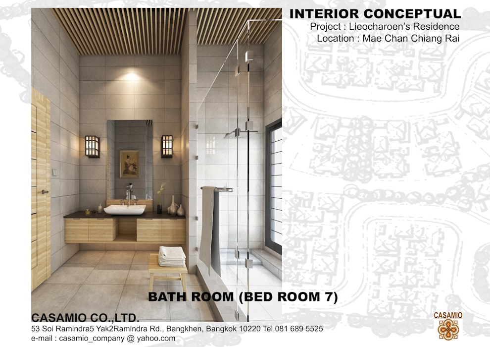 :  ห้องน้ำ โดย CASAMIO Co.,Ltd.,