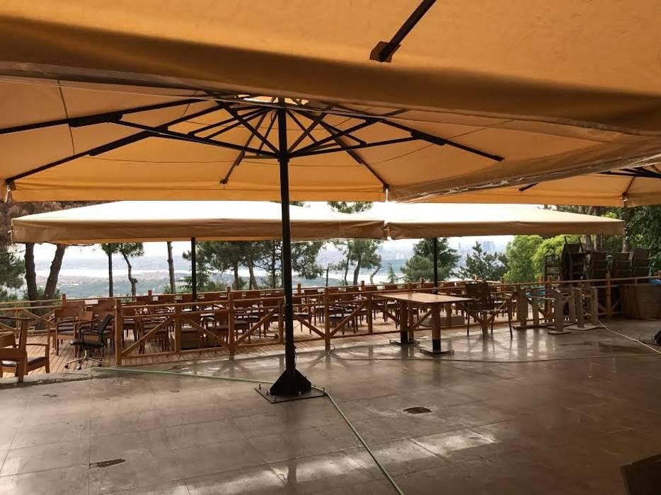 ÇAMLICA CAFE ŞEMSİYESİ Tropikal Bahçe Akaydın şemsiye Tropikal Demir/Çelik