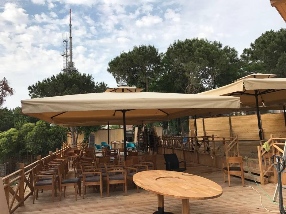 Akaydın şemsiye – ÇAMLICA CAFE ŞEMSİYESİ:  tarz Bahçe, Tropikal Demir/Çelik