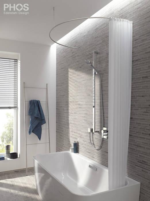 PHOS Design GmbH 욕실욕조 및 샤워 시설 철 / 철강 메탈릭 / 실버