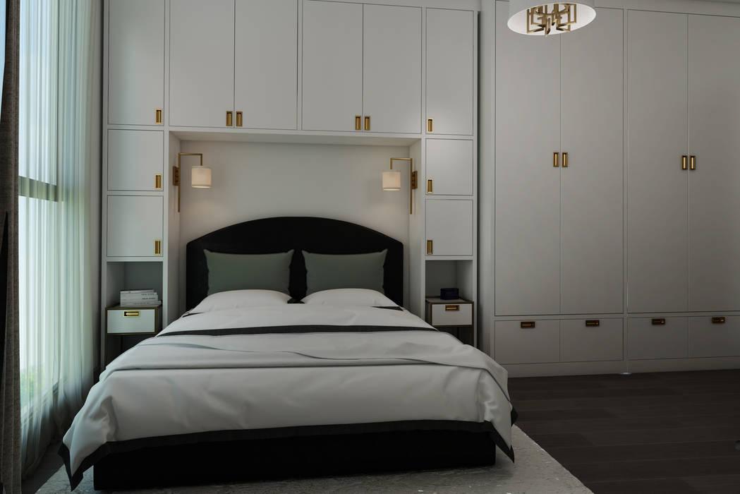Nef03_Konut Modern Yatak Odası homify Modern