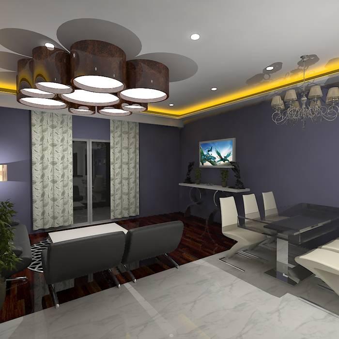 Palacio 2BHK Gurooji Designs Modern dining room