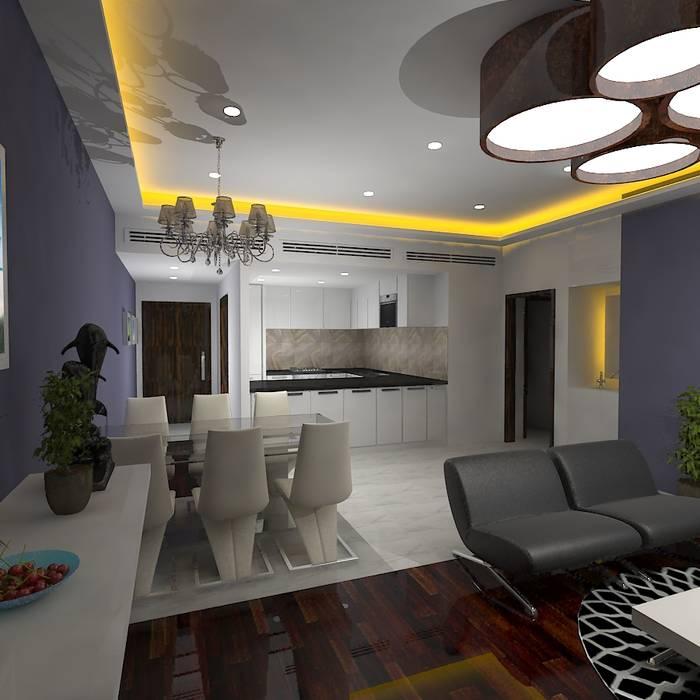 Palacio 2BHK Gurooji Designs Modern living room