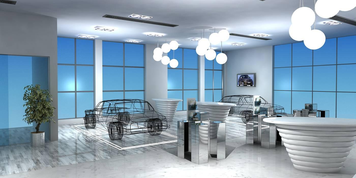 Merc. Merchandise Showroom by Gurooji Designs Modern