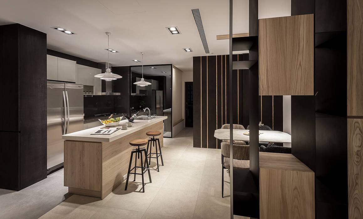 Cocinas de estilo  por Heng Yueh 恆岳設計, Industrial