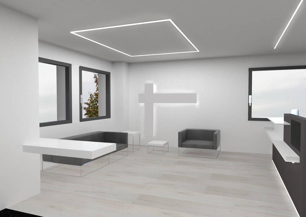 uffici: Studio in stile in stile Minimalista di Giemmecontract srl.