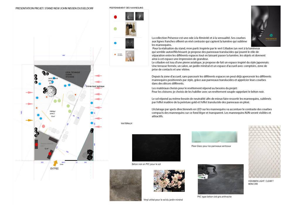plans et zooning: Centre d'expositions de style  par ATELIER TATIANA NJOLI