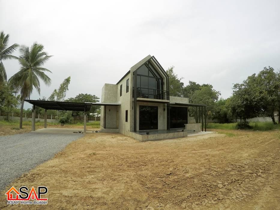 ASAP P17 บ้านชั้นเดี่ยว 2 ชั้น 1 ห้องนอน 2 ห้องน้ำ:  บ้านและที่อยู่อาศัย โดย Asap Home Builder, โมเดิร์น