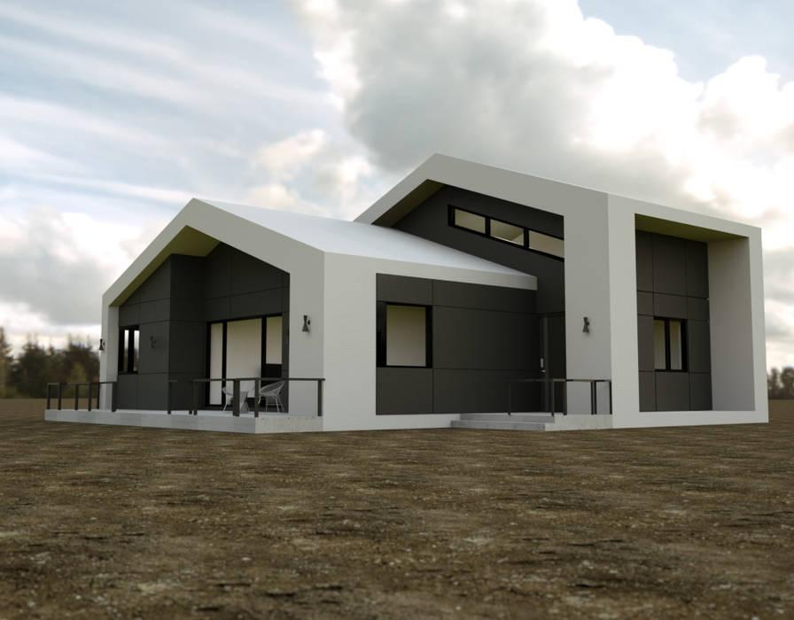 이천시 덕평 전원주택: 디자인 이업의  주택,컨트리