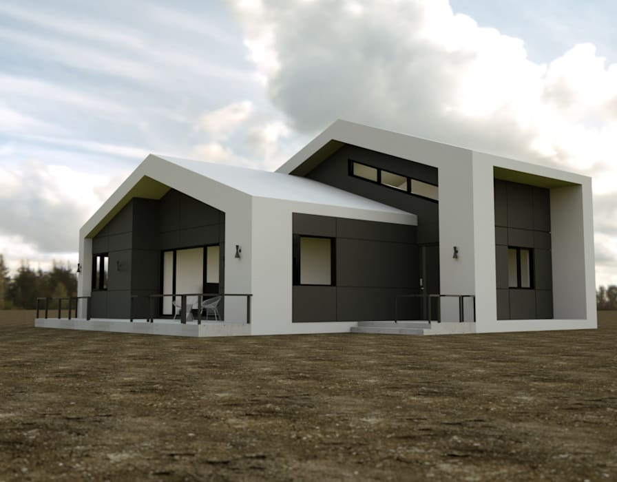 Casas de estilo  por 디자인 이업, Rural