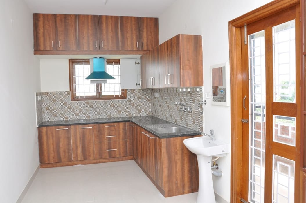 L Shaped Kitchen Design India Kitchen By Scale Inch Pvt Ltd Homify