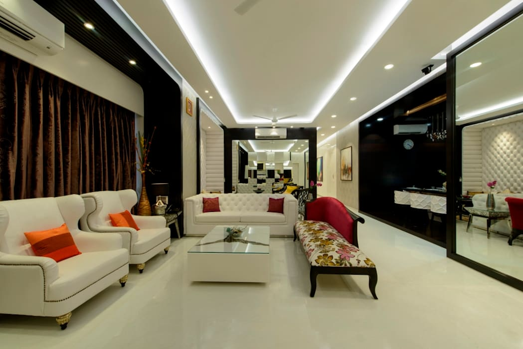 Living Area Modern Living Room by homify Modern