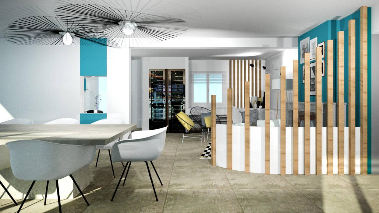 Amenagement De Salle A Manger aménagement d'une salle à manger contemporain avec cheminée