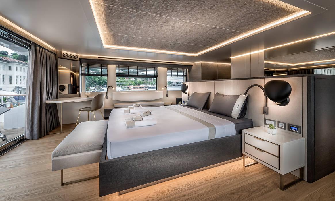NUMARINE 32 XP YACHT DESIGN Esra Kazmirci Mimarlik Modern yachts & jets Grey