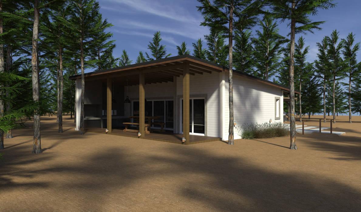 Vivienda unifamiliar en el bosque: Casas de estilo  por JOM HOUSES,Moderno Ladrillos