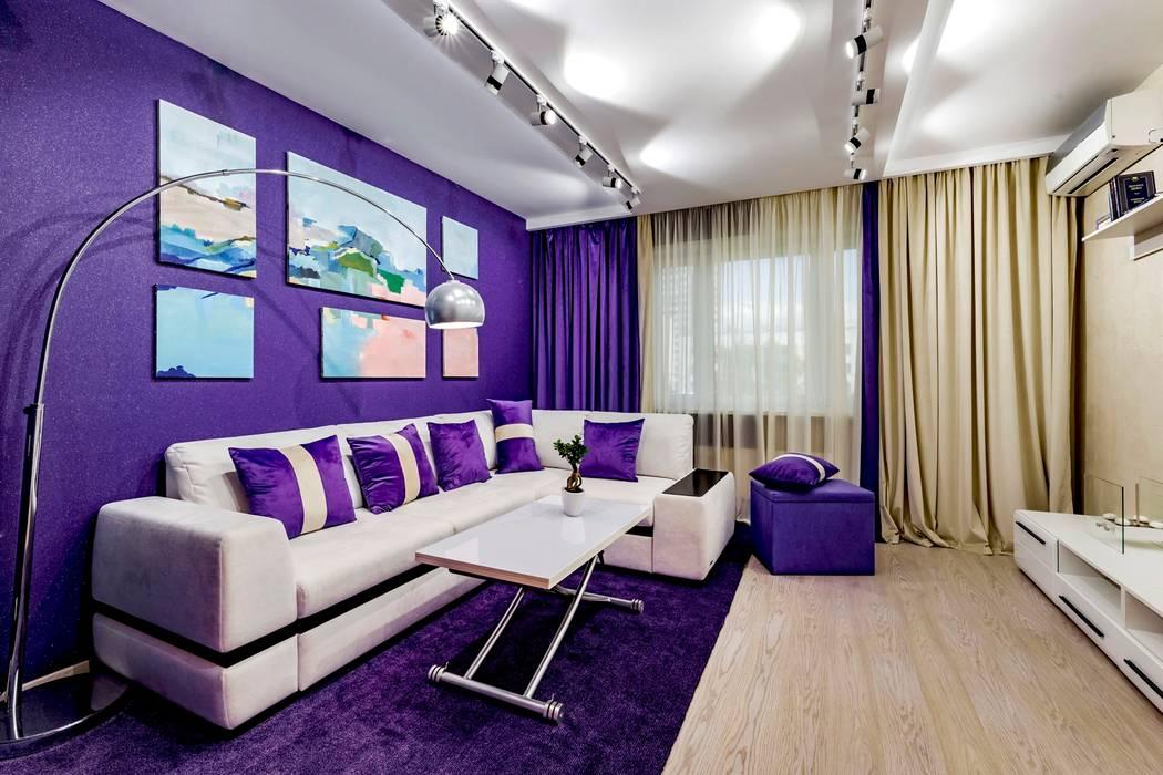 Salones de estilo minimalista de Школа Ремонта Minimalista