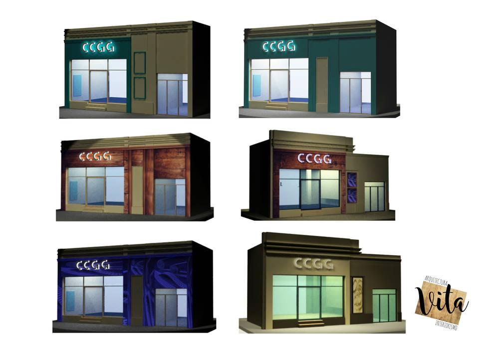 Modern offices & stores by Vita Arquitectura e Interiorismo Modern