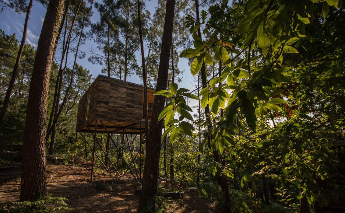 Casitas De Madera Entre Arboles Cabanas Do Barranco Hoteles De - Cabaas-de-madera-en-arboles