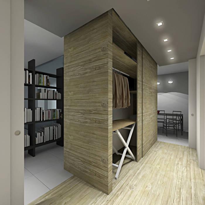 Vestidores y placares de estilo moderno de SOA Spazio Oltre l'Architettura Moderno Madera Acabado en madera