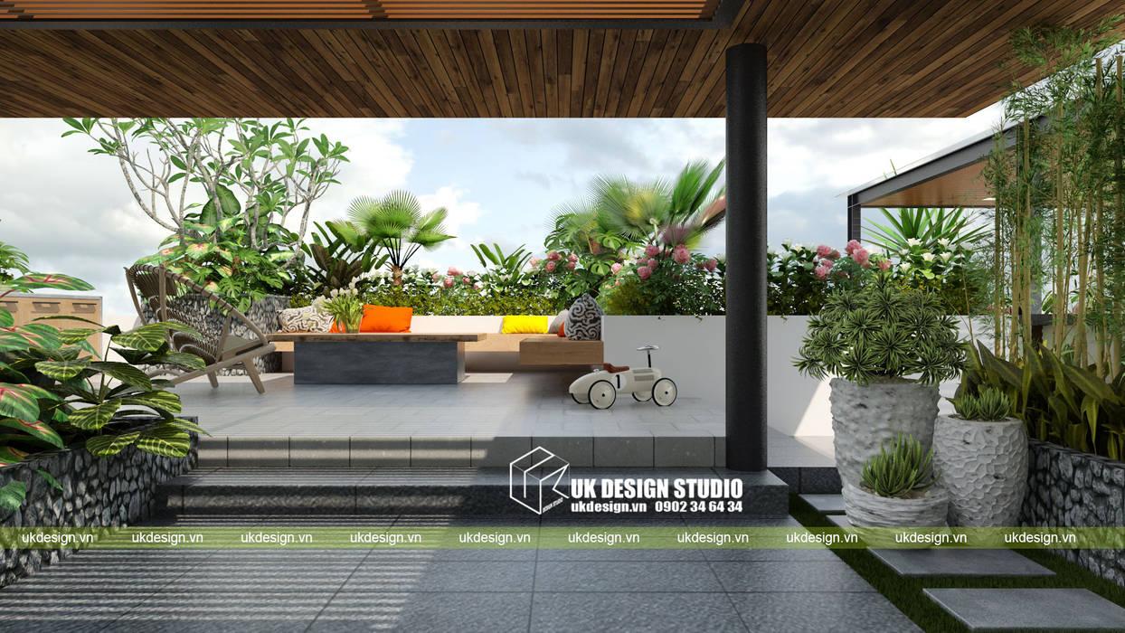 Moderner balkon, veranda & terrasse von uk design studio ...
