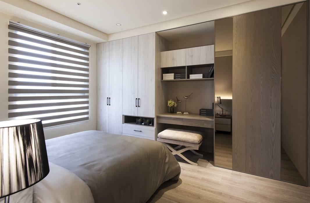 豐邑一第:  臥室 by 立禾空間設計有限公司, 現代風