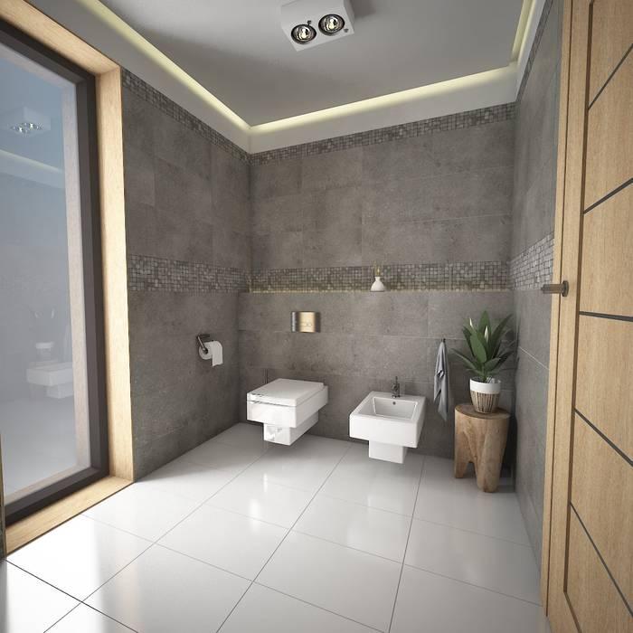 Propuesta 1: Baños de estilo  por José D'Alessandro, Moderno Cerámico